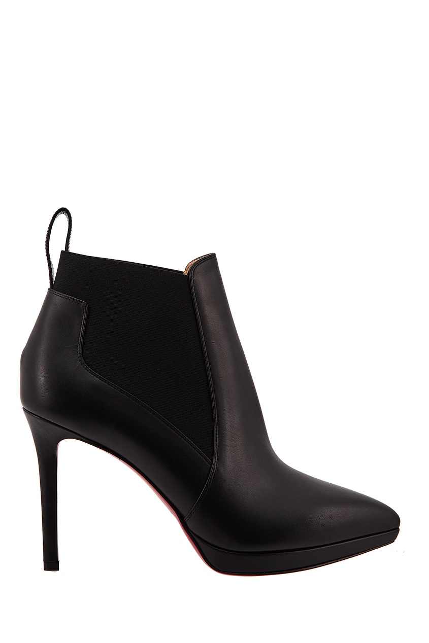 Черные ботильоны Crochinetta 100 Christian Louboutin