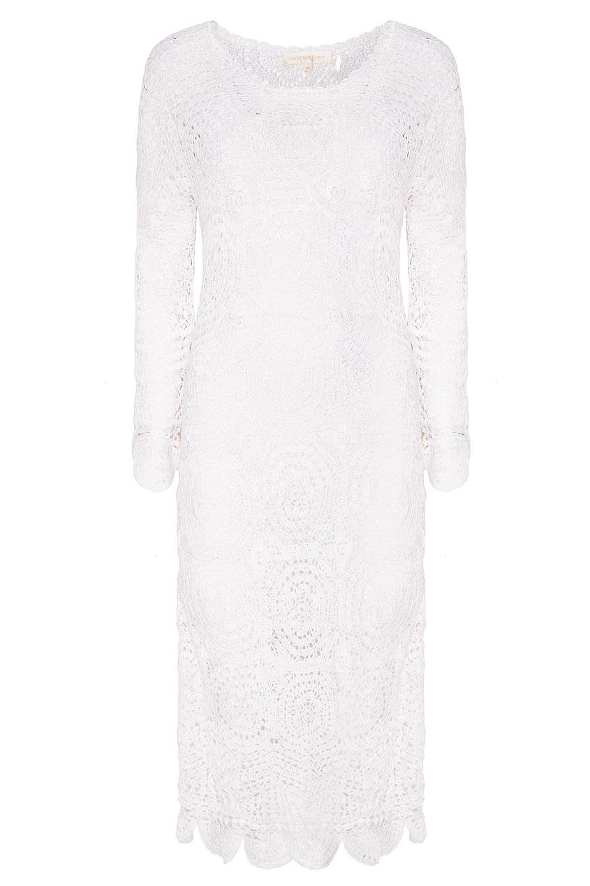 Белое вязаное платье Helen от LoveShackFancy