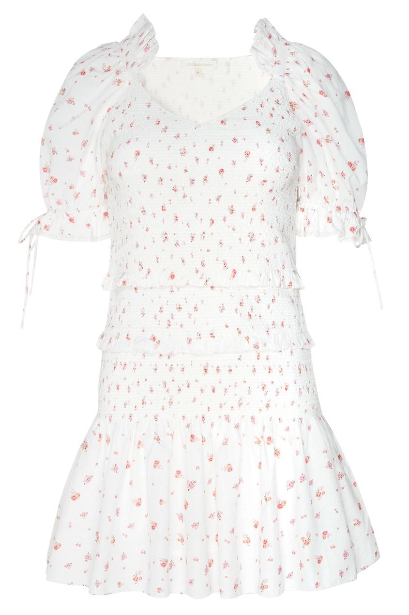 Платье мини с цветочным принтом Tina от LoveShackFancy