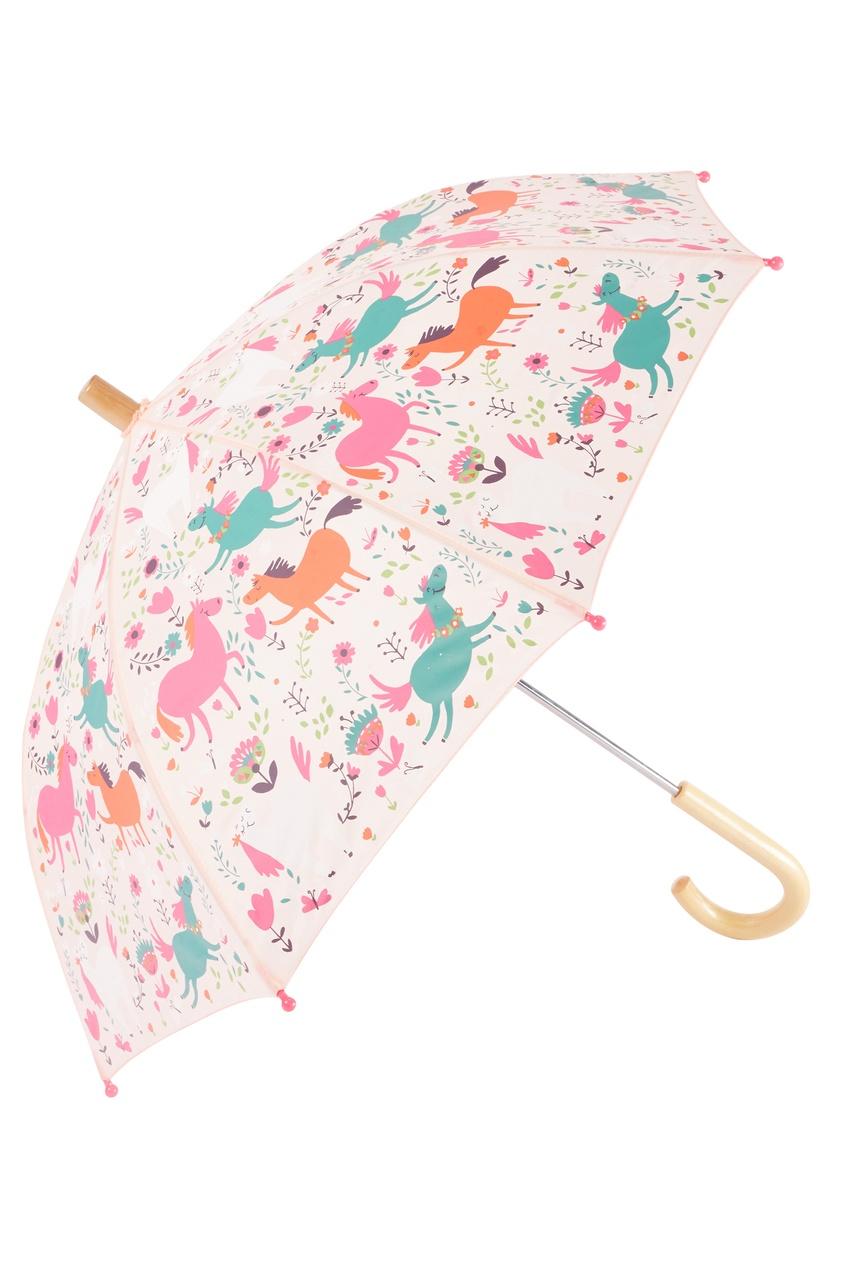 Розовый зонт с лошадками Hatley