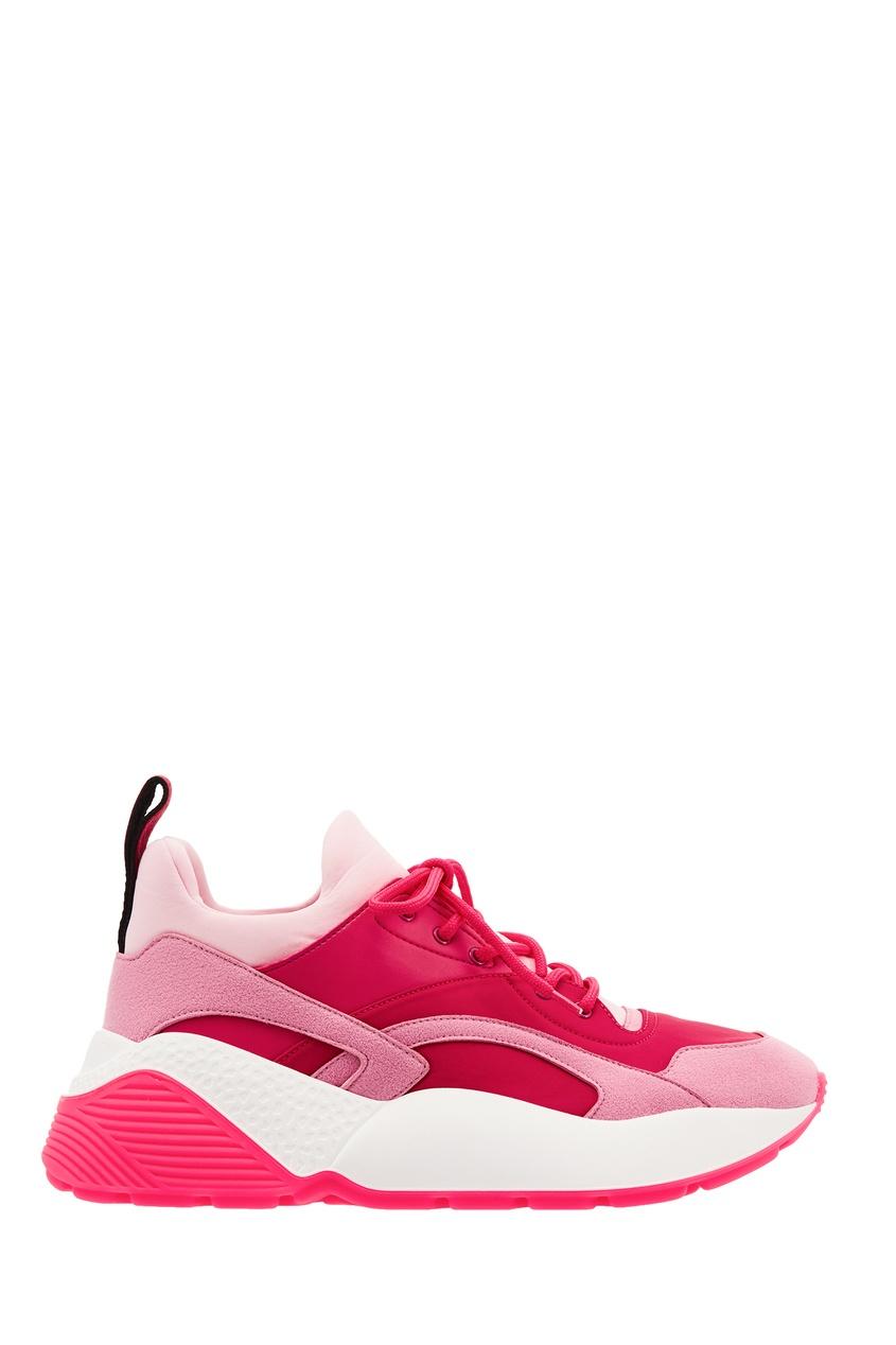 Бело-розовые кроссовки Eclypse Stella McCartney