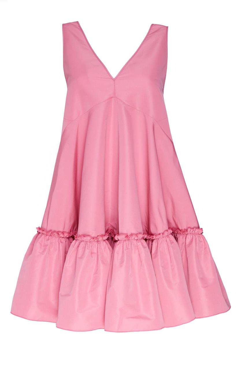 Розовое платье из тафты от No.21