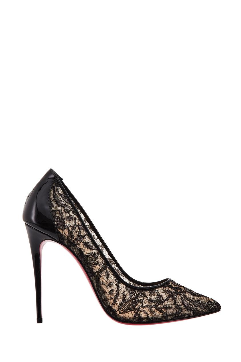Туфли из блестящего кружева Follies Lace 100 Christian Louboutin