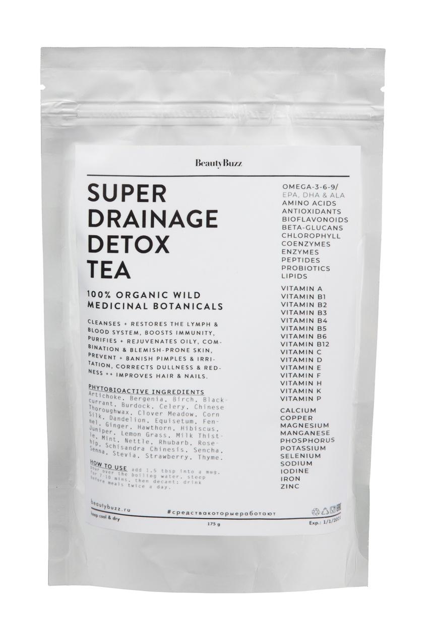 Лимфодренажный детоксицирующий чай против отёков, воспалений и хронической усталости BeautyBuzz