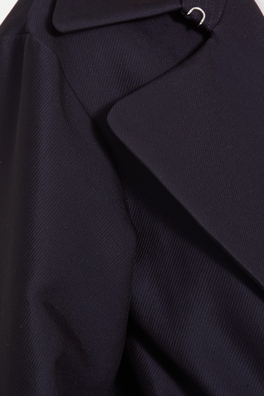 Фото 6 - Короткий синий тренч Marius от Sandro синего цвета