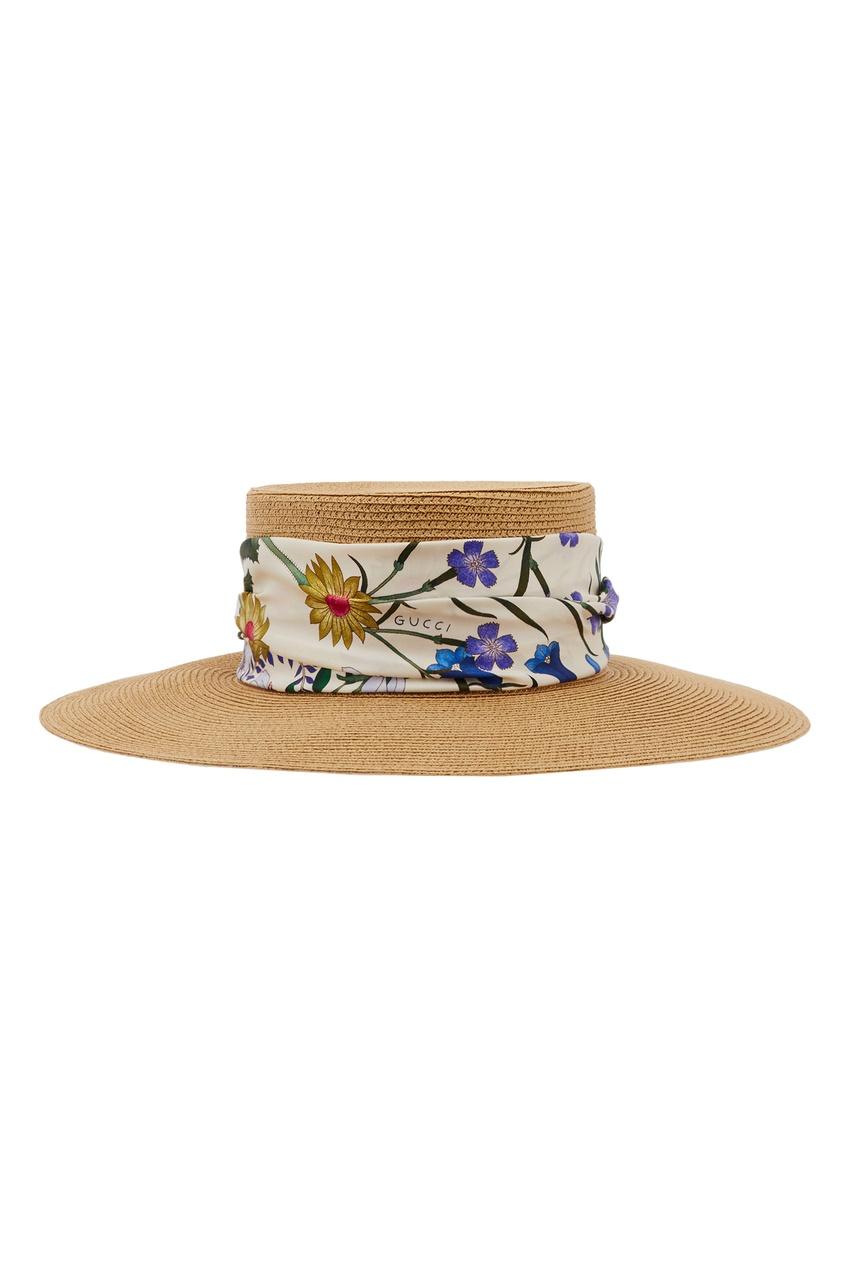 Шляпа из папье-маше с лентой Gucci