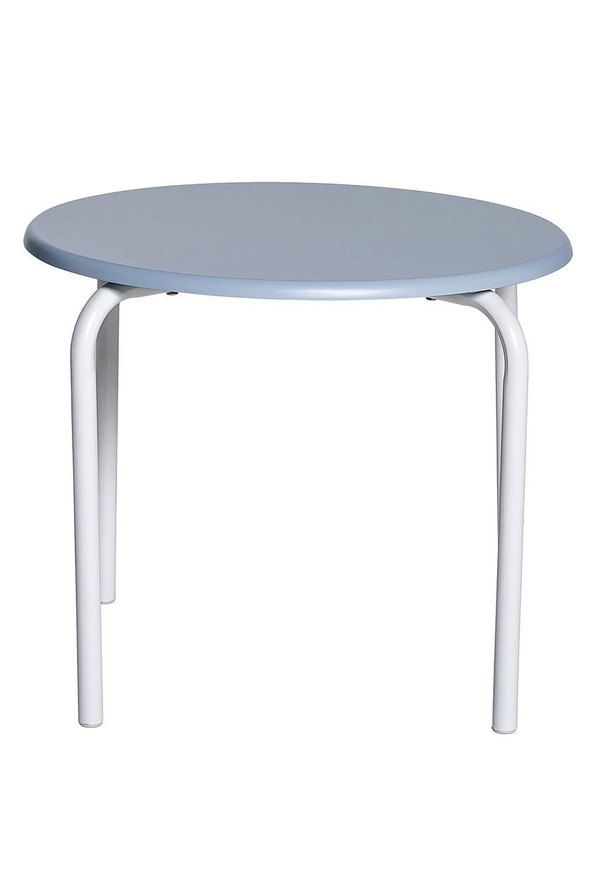 Стол голубой.