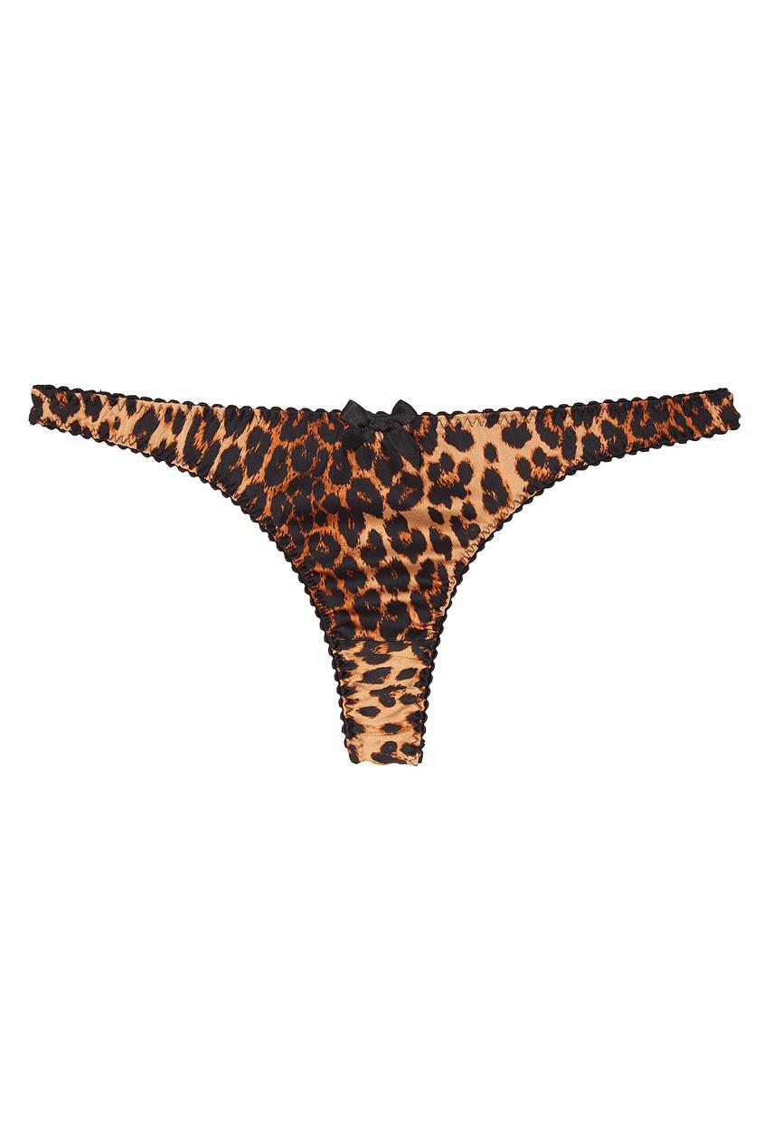 Трусики стринги Bessie леопардовые
