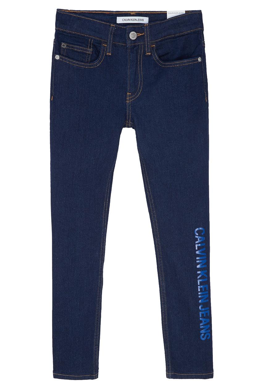 Синие джинсы с логотипом Calvin Klein Kids