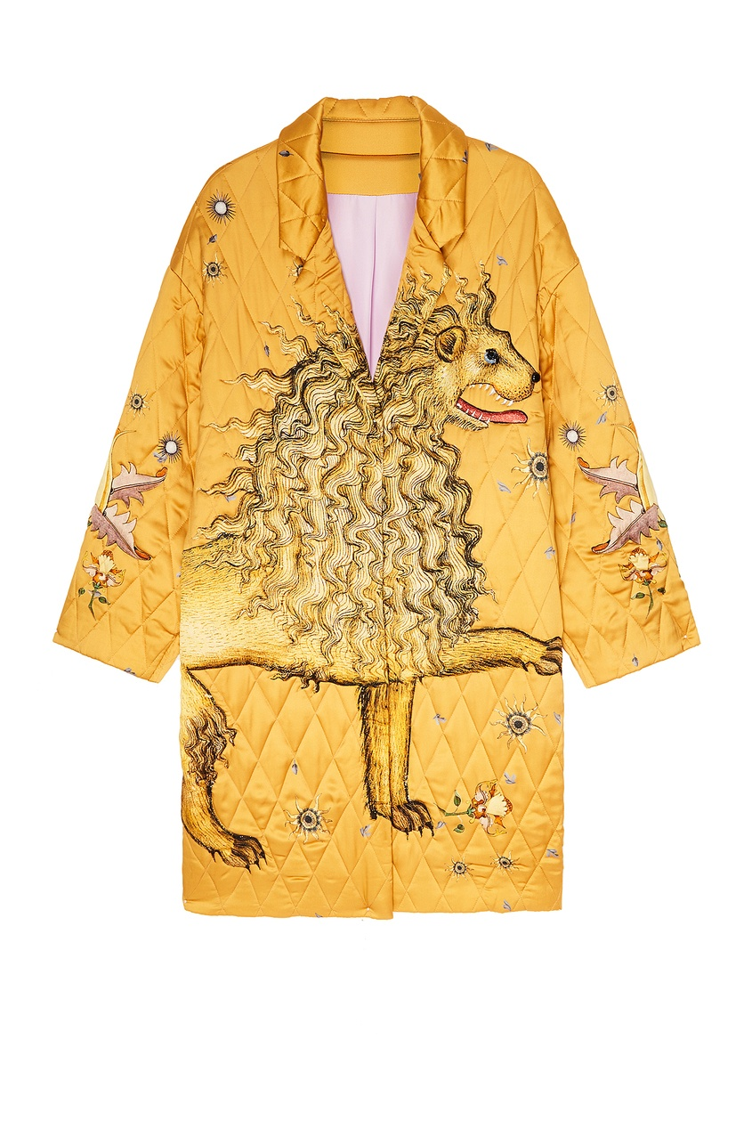 женское пальто alena akhmadullina, желтое