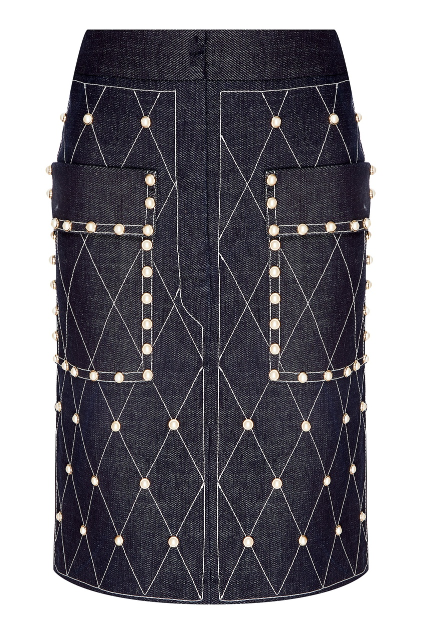 Джинсовая юбка с отделкой Alena Akhmadullina