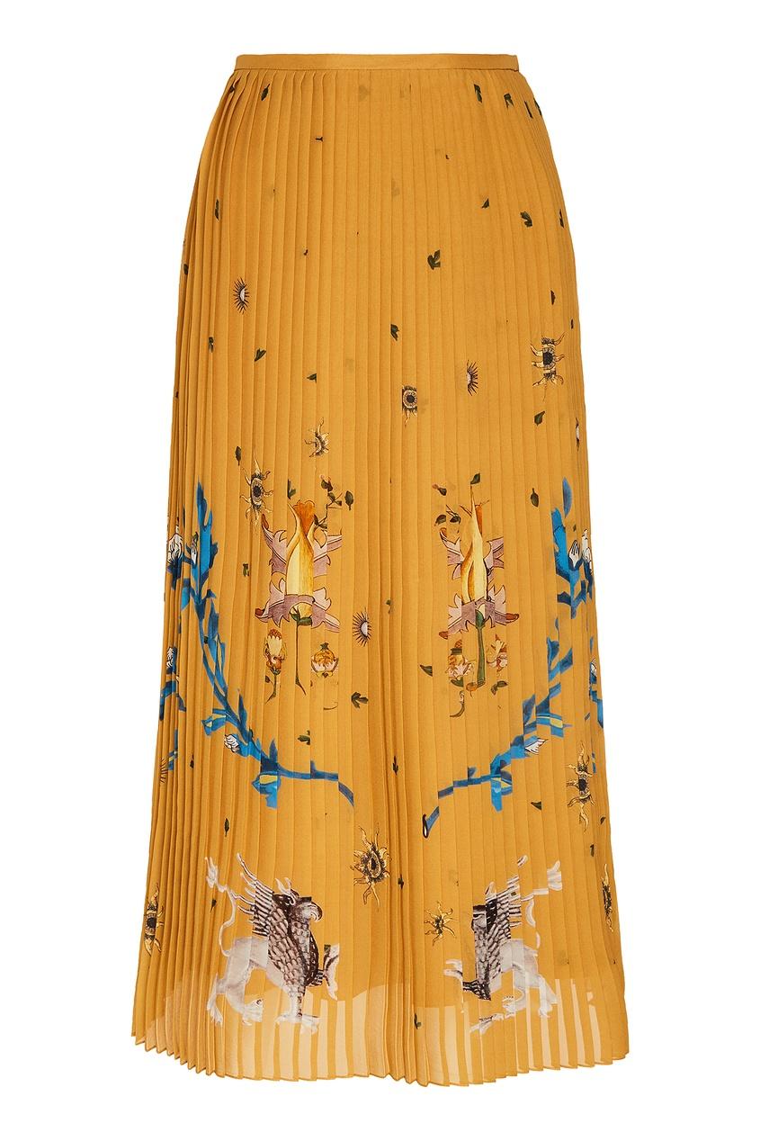 Плиссированная юбка с рисунком