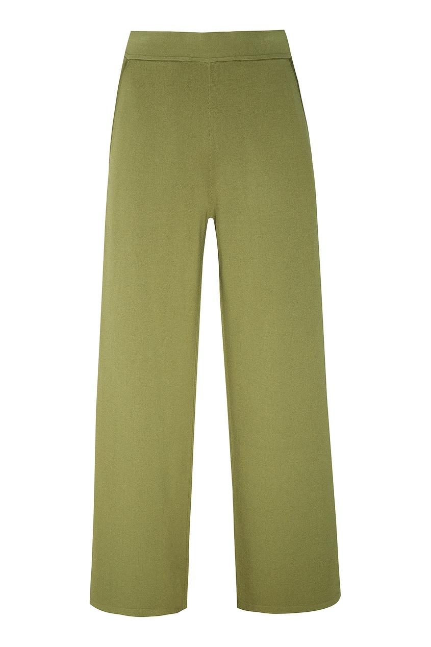 Зеленые трикотажные брюки