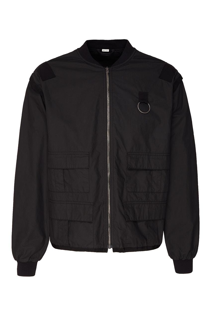 Купить Куртку-трансформер с логотипом на спине от Gucci Man черного цвета