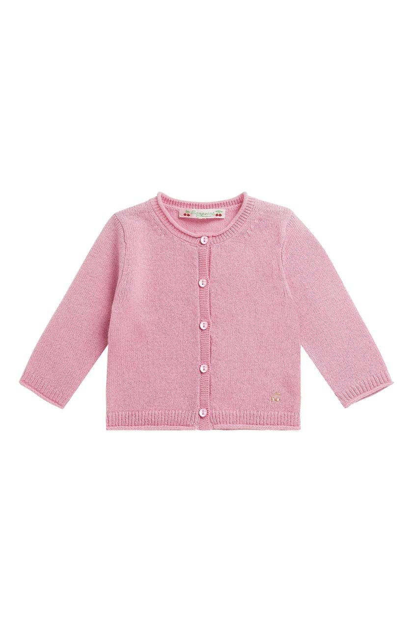 Кашемировый розовый кардиган от Bonpoint