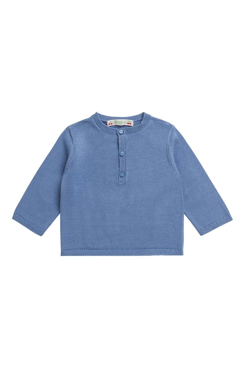 Купить Джемпер синий хлопковый синего цвета