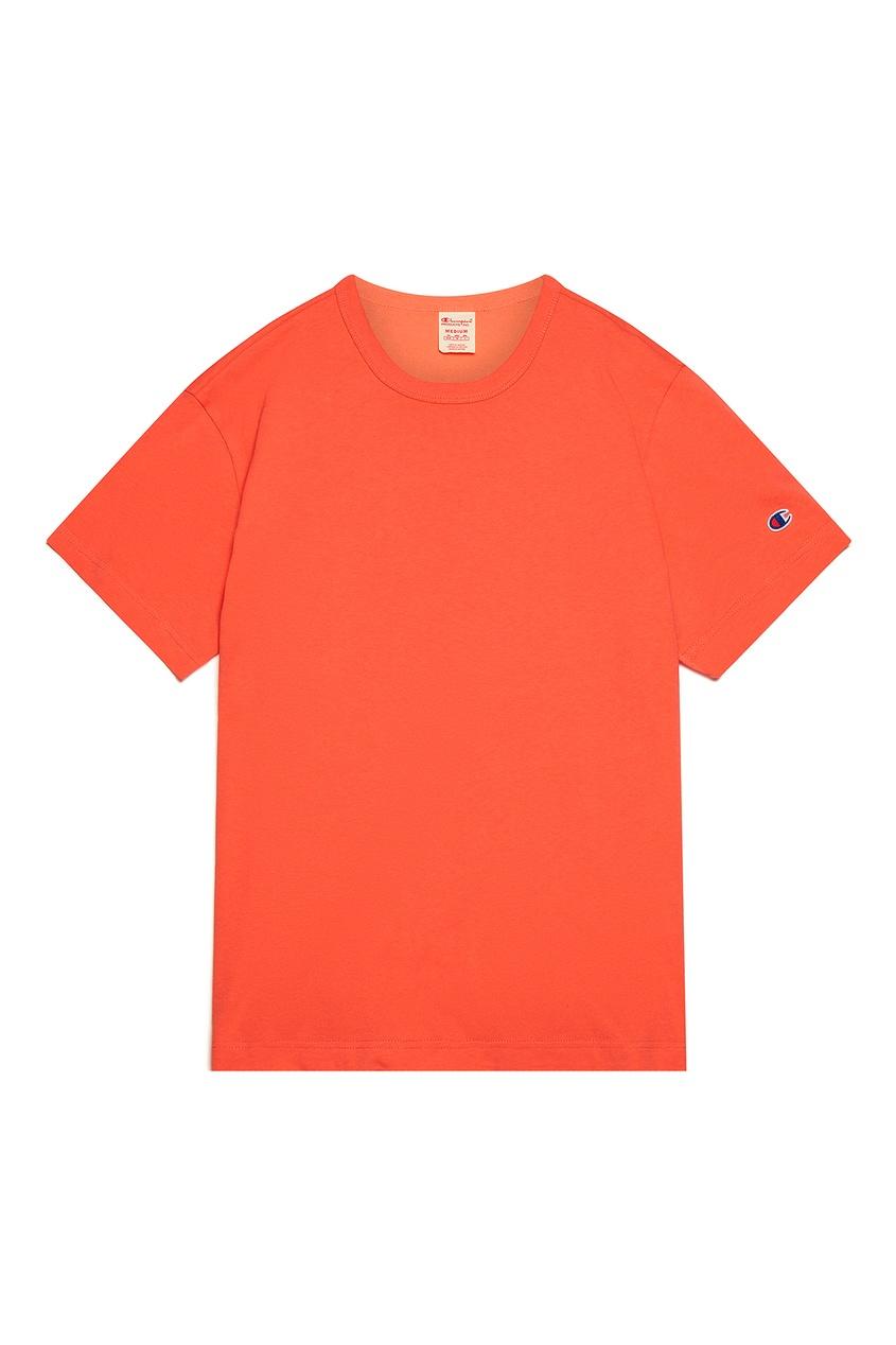 мужская футболка champion, оранжевая