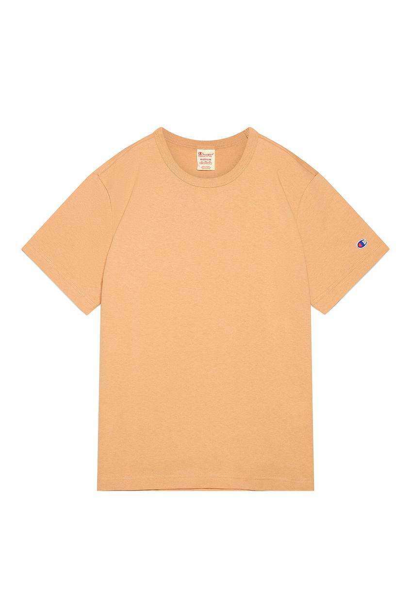 Бежевая хлопковая футболка CHAMPION