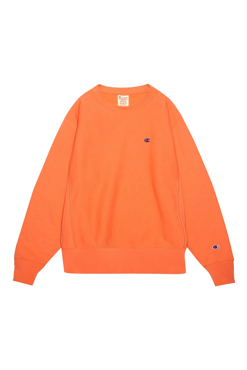 Оранжевый свитшот с логотипом CHAMPION