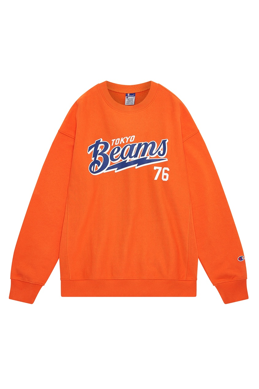 Оранжевый свитшот Champion x Beams