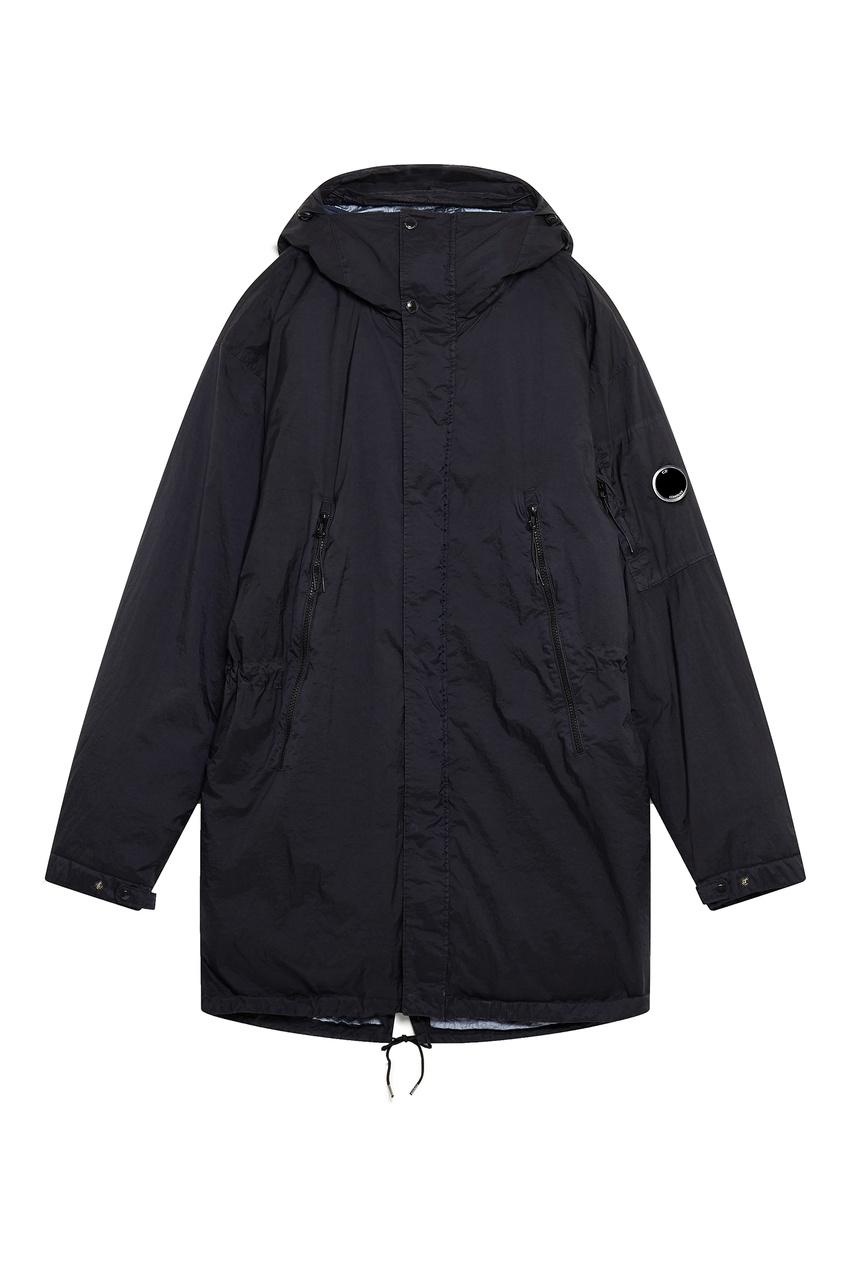 Купить со скидкой Темно-серая утепленная куртка