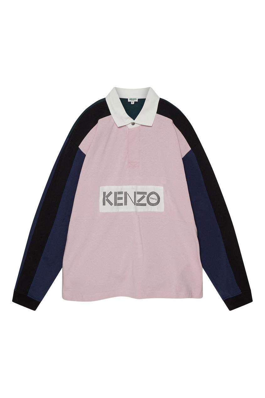 Рубашка-поло в дизайне цветными блоками