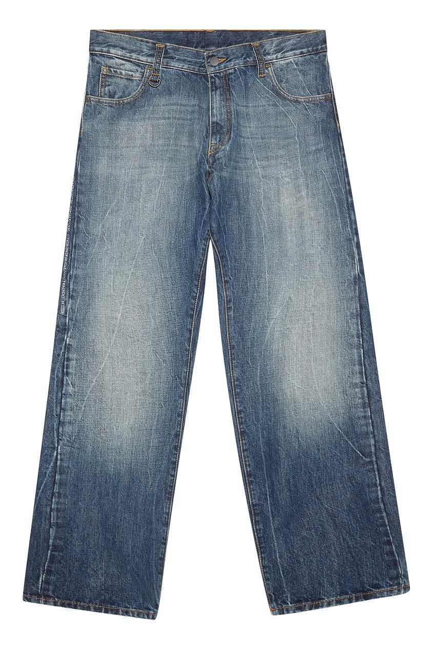 Купить со скидкой Синие джинсы с эффектом поношенности