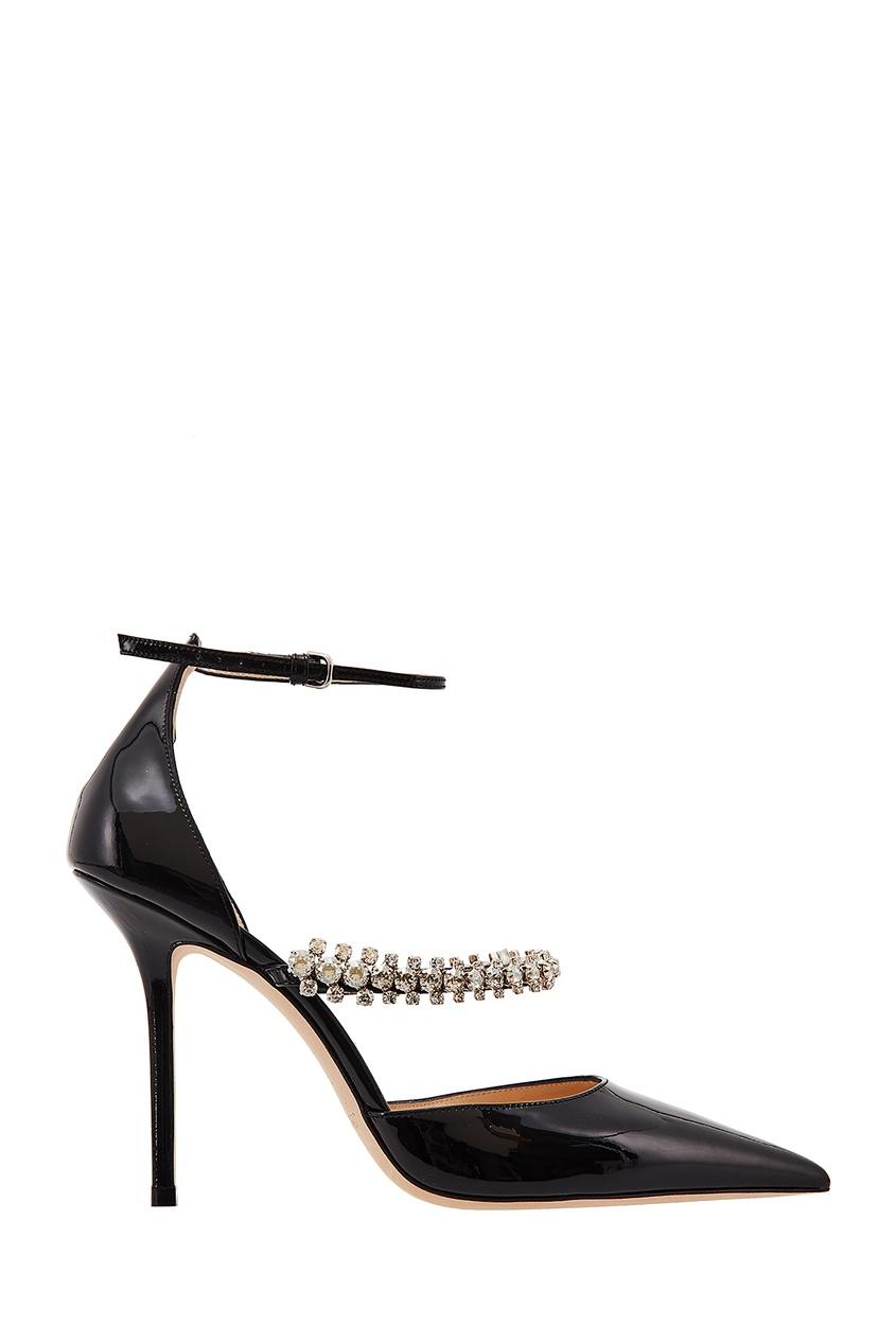 Черные туфли Bobbie с кристаллами Jimmy Choo