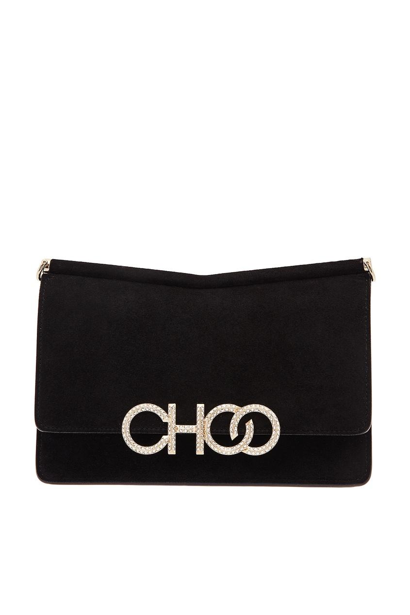 Черная замшевая сумка Sidney Jimmy Choo
