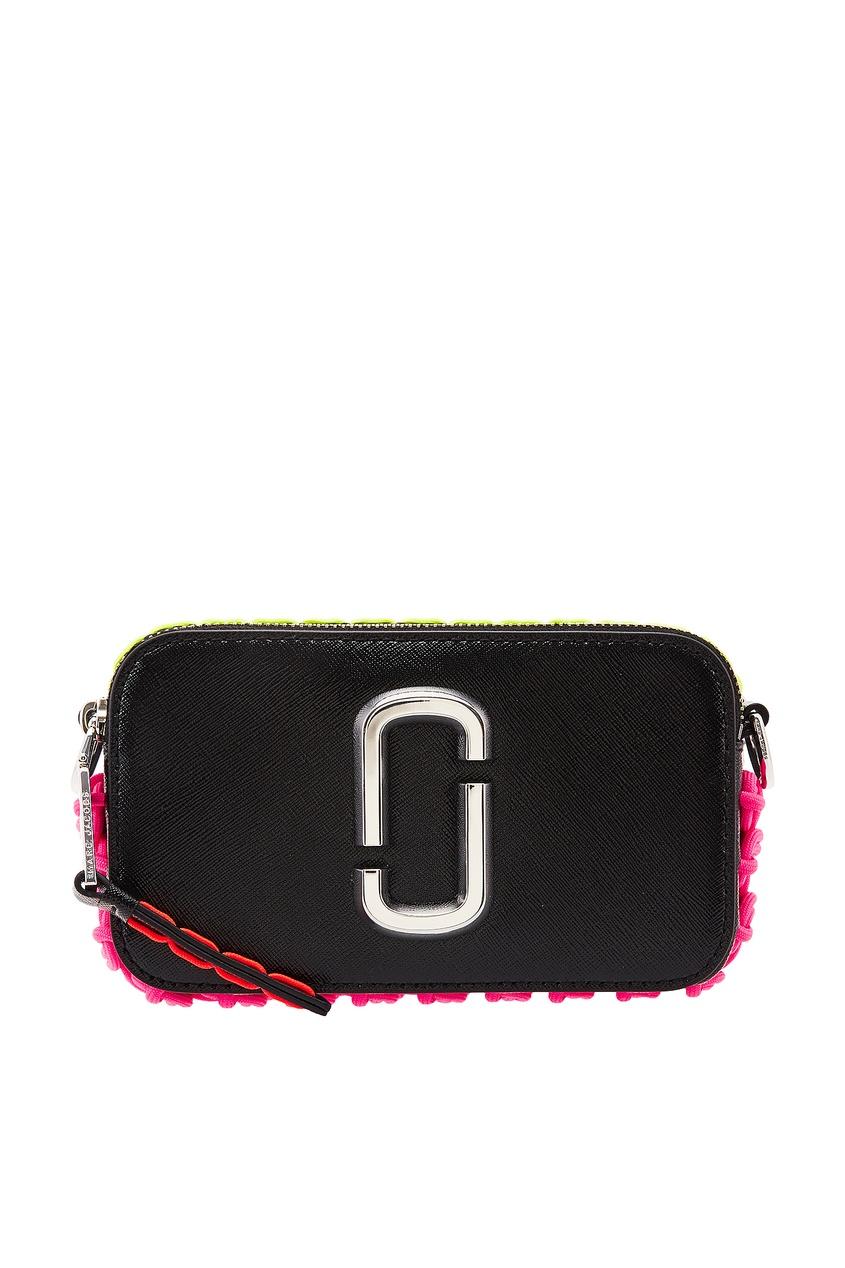 Кожаная сумка с контрастной отделкой от Marc Jacobs