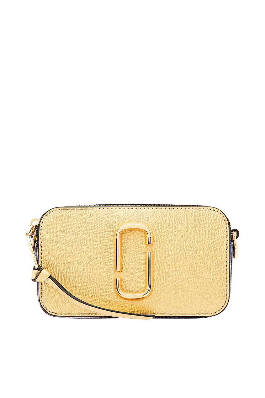 Золотистая сумка с логотипом от Marc Jacobs