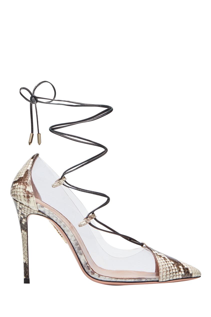 Туфли с прозрачными вставками Magic Pump 105 Aquazzura