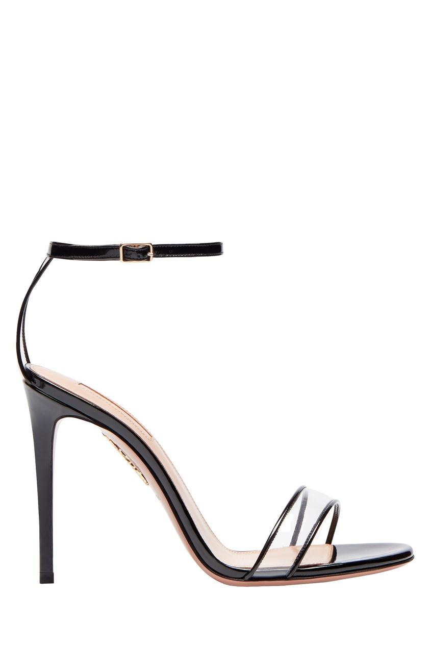 Черные босоножки Minimalist Sandal 105 Aquazzura