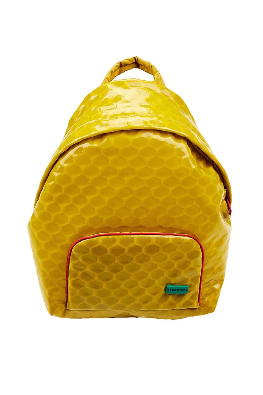 Желтый лакированный рюкзак #Mumofsix