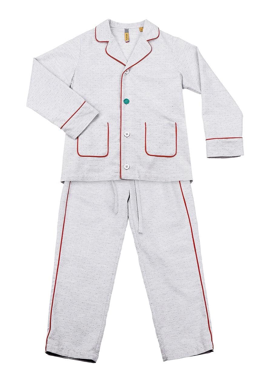 Бежевая пижама с контрастной отделкой #Mumofsix