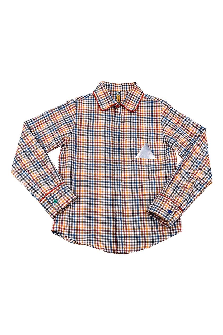 Рубашка в разноцветную клетку #Mumofsix