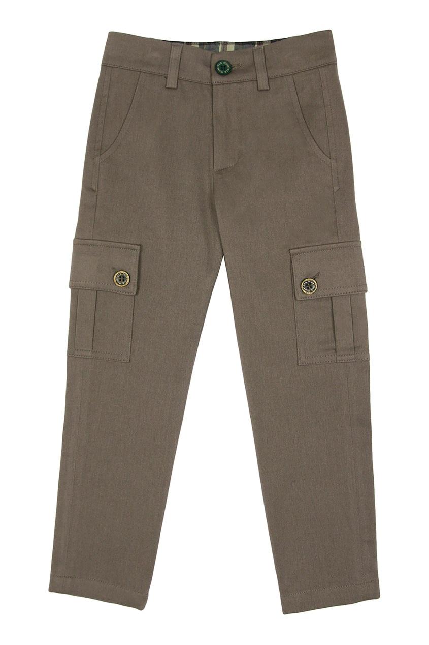 Коричневые брюки с карманами #Mumofsix