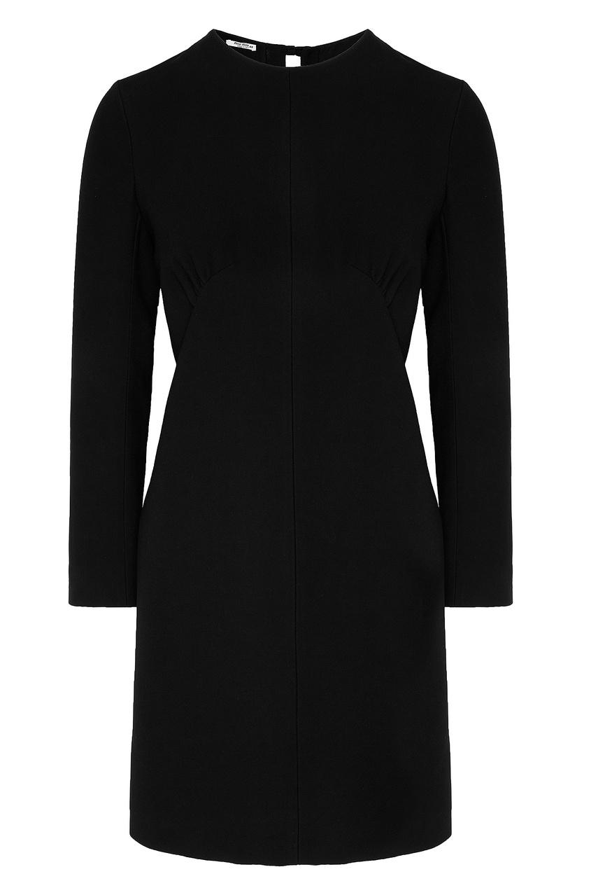 Черное платье с длинными рукавами Miu Miu