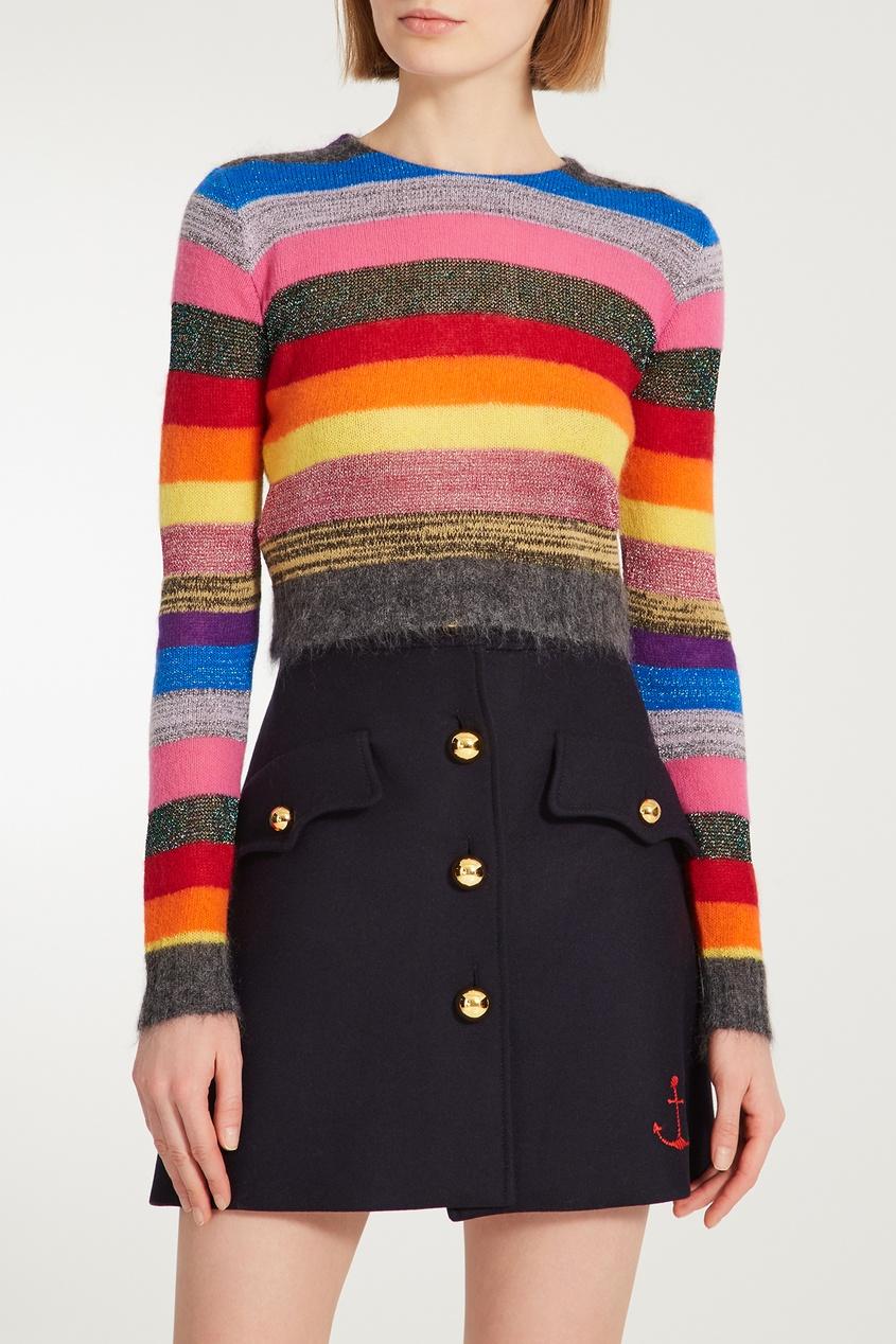 Купить Джемпер в полоску от Miu Miu цвет multicolor