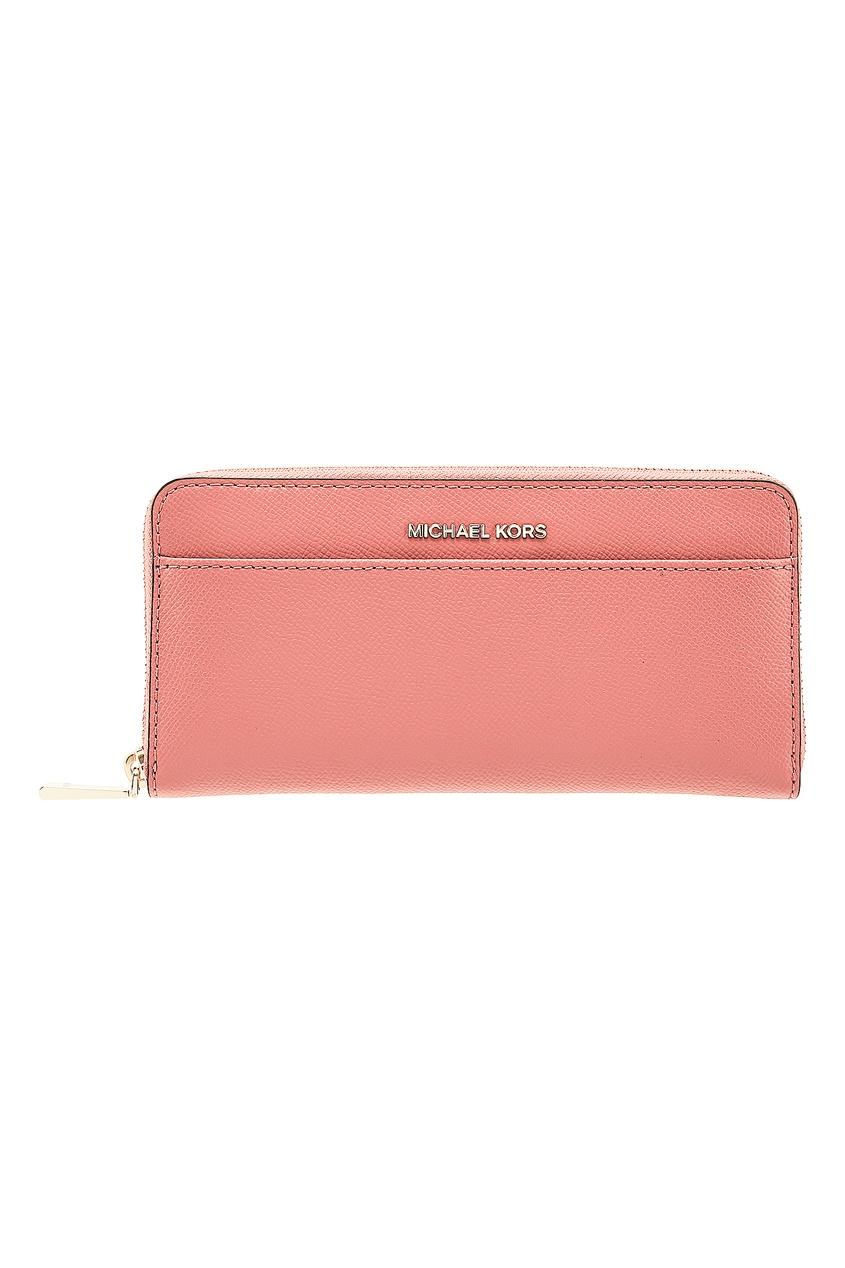Розовый кошелек Money Pieces на молнии MICHAEL MICHAEL KORS