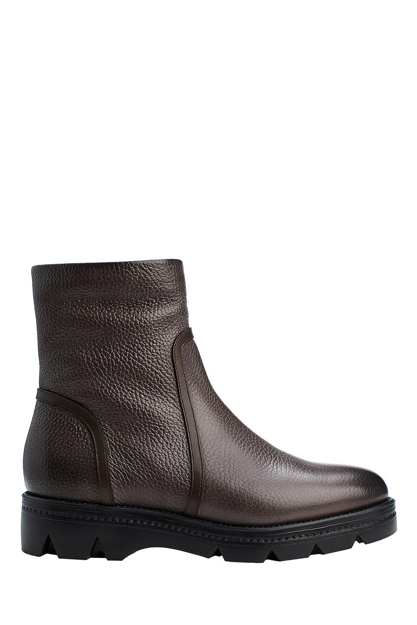 Ботинки из коричневой кожи от Santoni