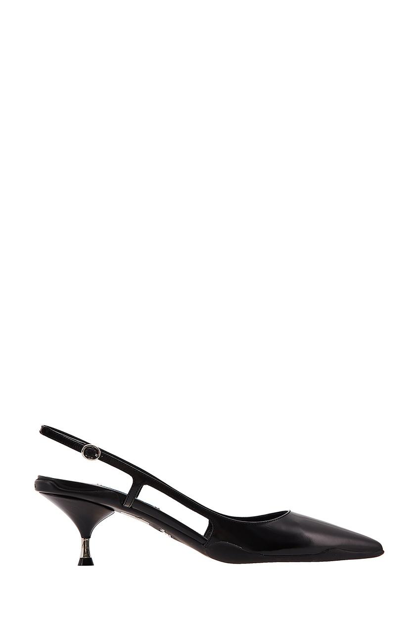 Черные кожаные туфли Opanca PRADA