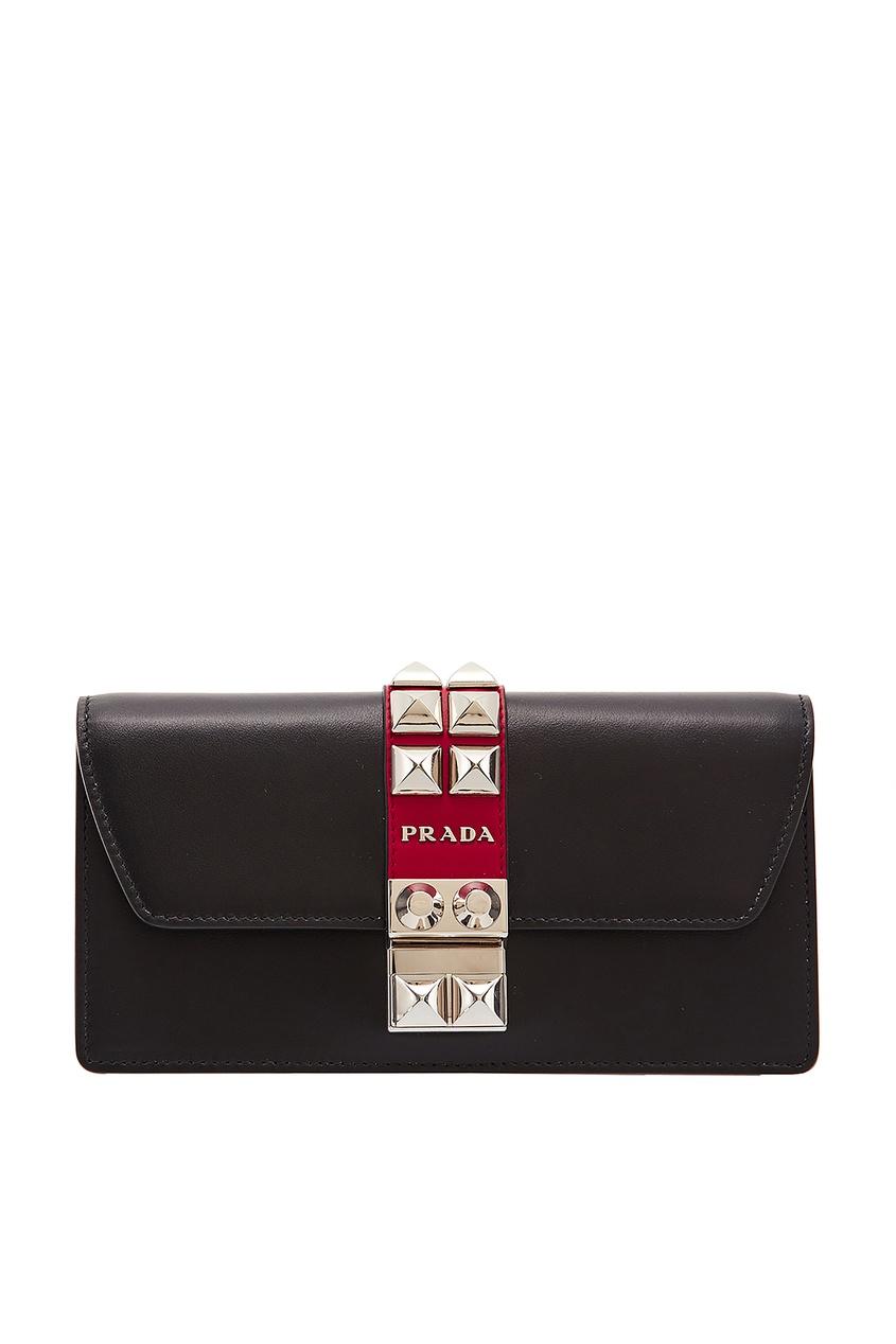 Красно-черная мини-сумка Elektra PRADA