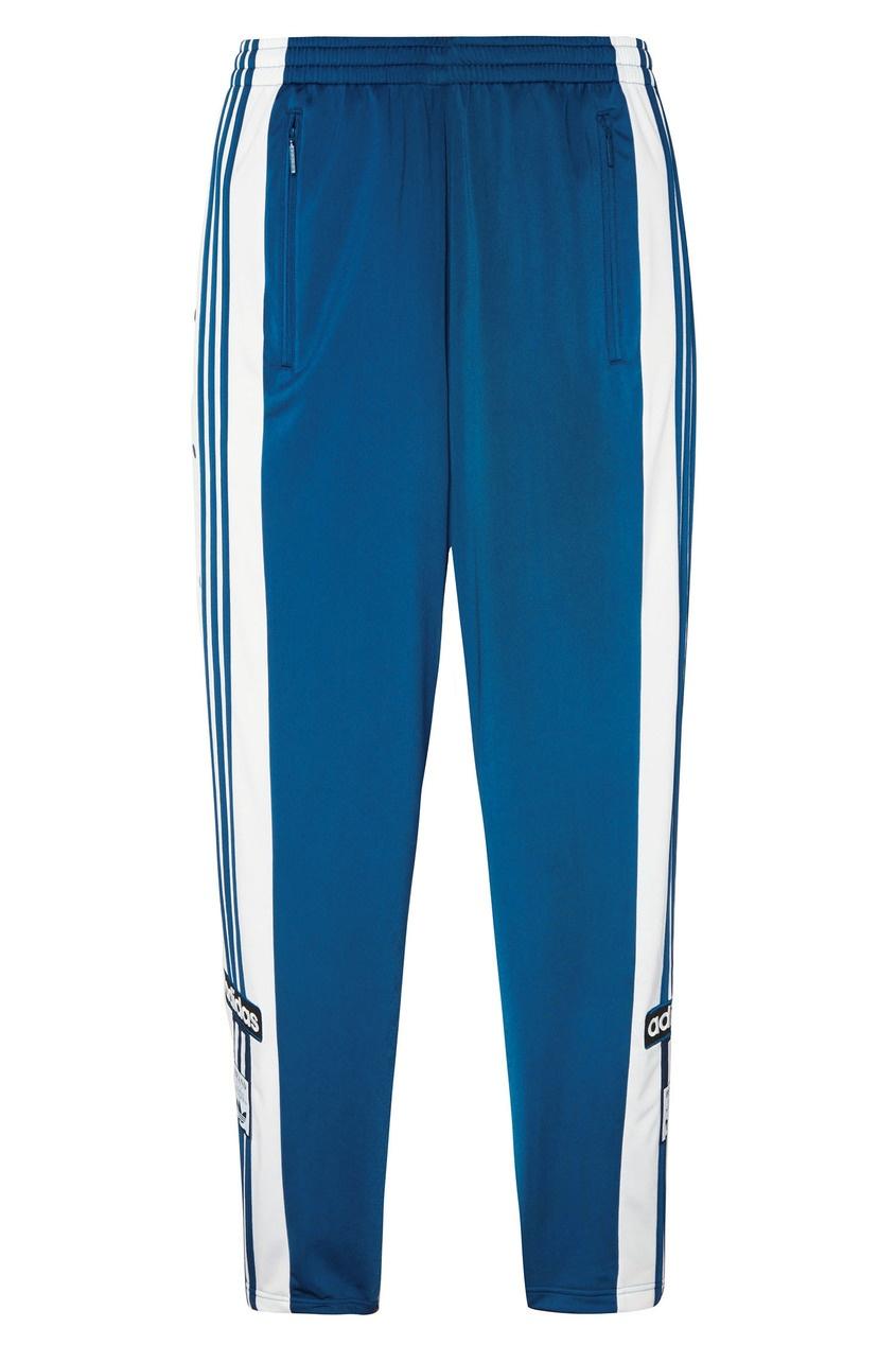Бело-синие спортивные брюки Adibreak