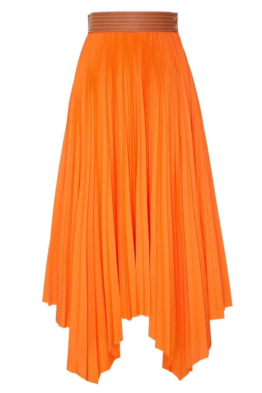 Асимметричная плиссированная юбка