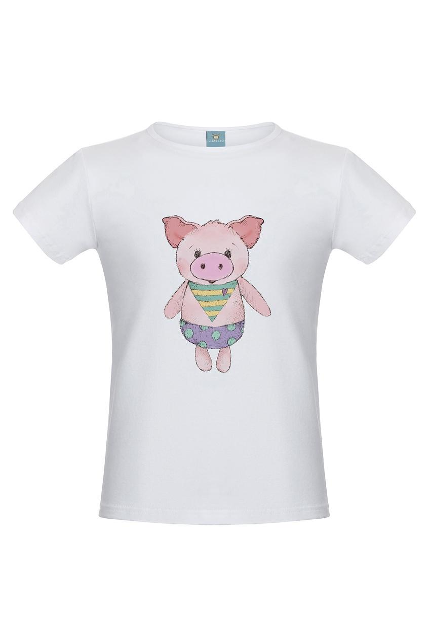 Белая футболка «Маленький поросенок» LISA&LEO