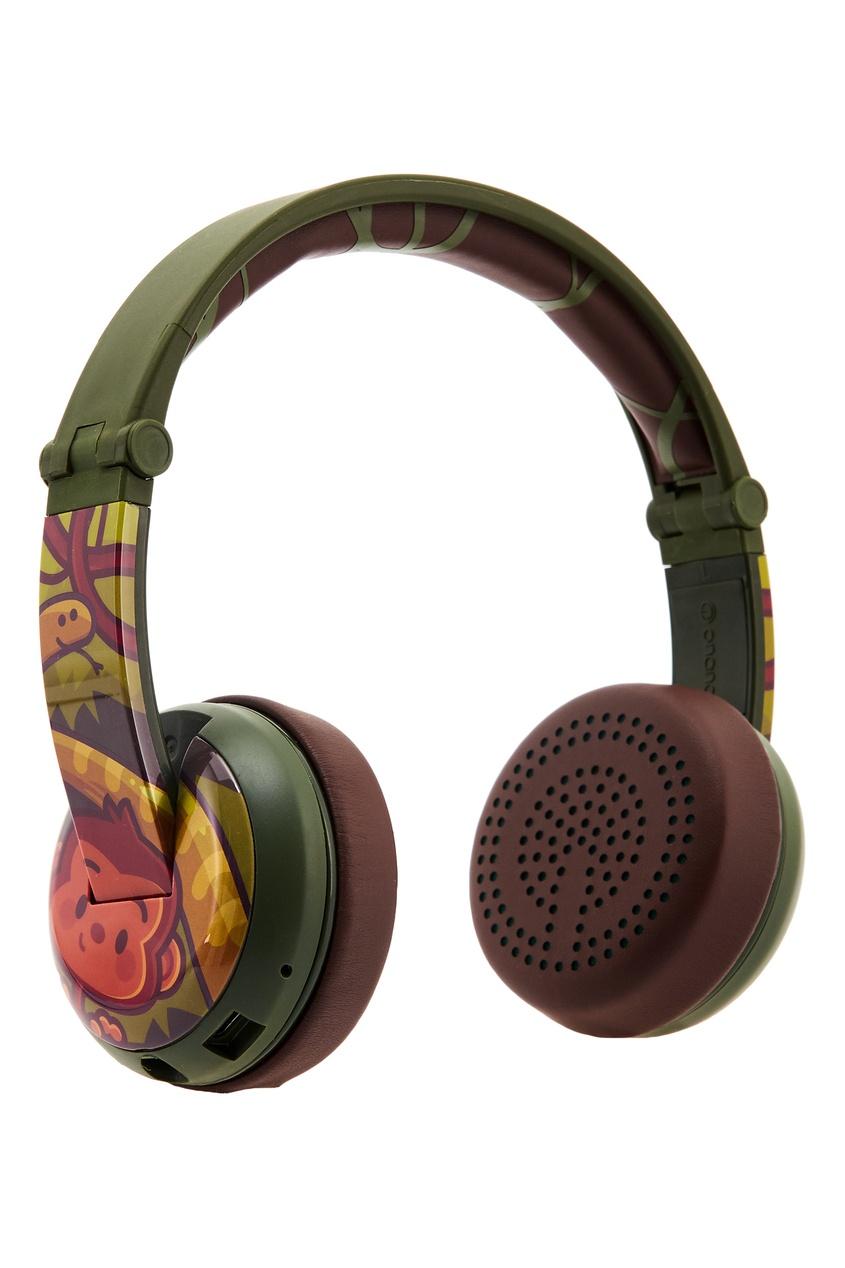 Зеленые наушники Wave Monkey Buddyphones