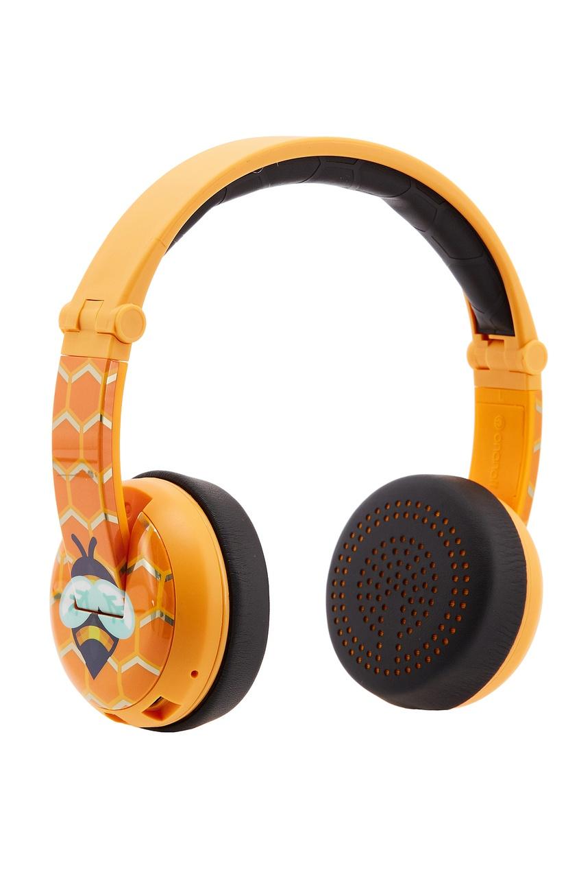 Желтые наушники Wave Bee Buddyphones