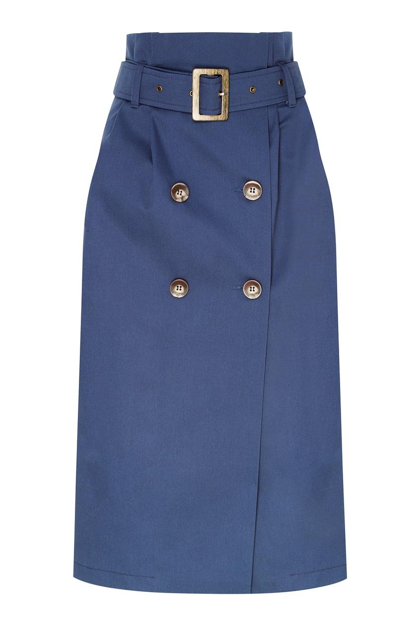женская юбка laroom, голубая