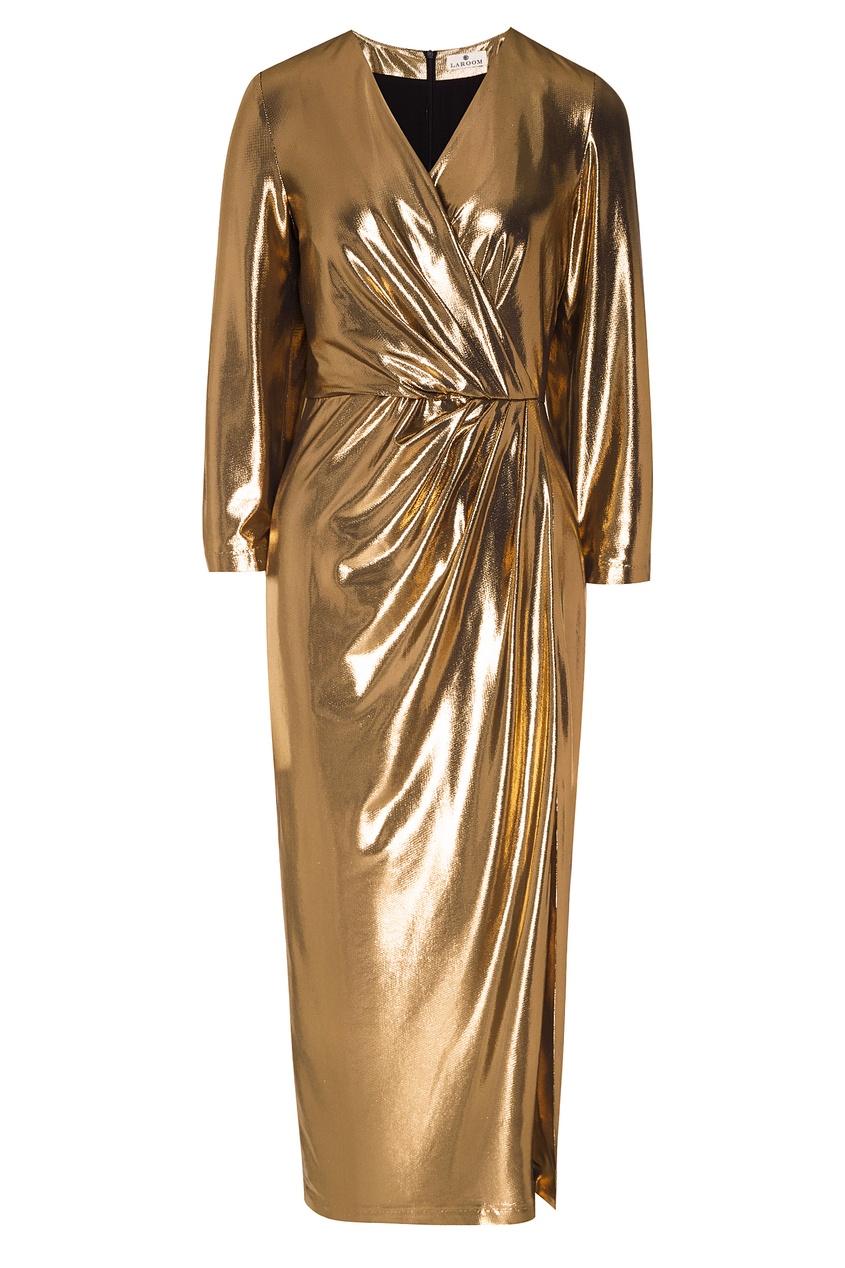 женское платье laroom, золотое